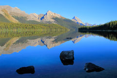 Maligne lake in Jasper national park, Alberta, Canada. Maligne lake, Jasper national park, Alberta, Canada Stock Image
