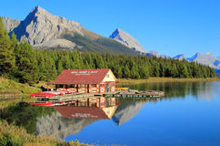 Maligne lake in Jasper national park, Alberta, Canada Stock Photos