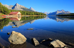 Maligne lake in Jasper national park, Alberta, Canada Stock Photo