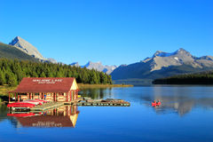 Maligne lake in Jasper national park, Alberta, Canada Stock Image