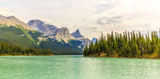 Maligne Lake. In Jasper National Park, Alberta, Canada Stock Image