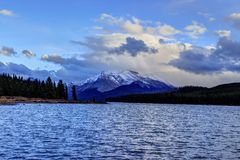 Maligne Lake - Jasper National Park Royalty Free Stock Photos