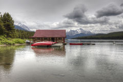 Maligne Lake - Jasper National Park, Alberta, Canada Royalty Free Stock Photography