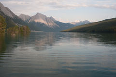 Maligne lake in Jasper national park, Alberta, Canada  -  Stock Stock Photo