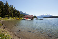 Maligne Lake Jasper national park Royalty Free Stock Photos
