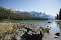 Maligne Lake Jasper national park Stock Photo