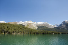 Maligne Lake Jasper national park. Canada Royalty Free Stock Photography