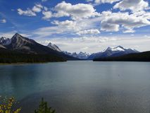 Maligne Lake in Jasper National Park in Canada, Alberta. Wonderful Maligne Lake in Jasper National Park in Canada, Alberta Royalty Free Stock Photography