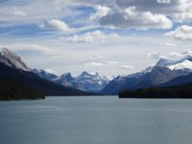 Maligne Lake in Jasper National Park in Canada, Alberta. Wonderful Maligne Lake in Jasper National Park in Canada, Alberta Stock Image