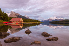 Maligne Lake, Jasper National Park, Canada Stock Photos