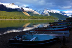 Maligne lake, Jasper national park, Canada Royalty Free Stock Image