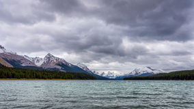 Maligne Lake in Jasper National Park Royalty Free Stock Photography