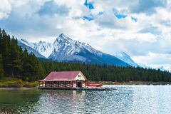Maligne Lake, Jasper National Park, Jasper, Stock Image