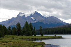 Maligne Lake in Jasper National Park Stock Image