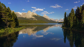 Maligne Lake near Jasper National Park. Alberta, Canada Royalty Free Stock Photos