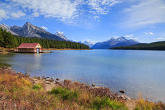 Maligne Lake view. Maligne Lake in Jasper natioanal park, Alberta, Canada Royalty Free Stock Images