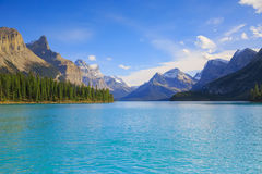 Maligne Lake view Royalty Free Stock Images