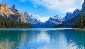 Maligne Lake view. Maligne Lake in Jasper national park, Alberta, Canada Stock Photos