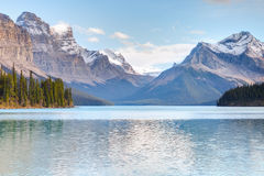 Maligne Lake view. Maligne Lake in Jasper national park, Alberta, Canada Stock Photos