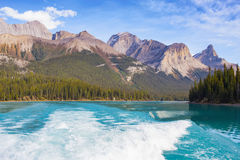 Maligne Lake view. Maligne Lake in Jasper national park, Alberta, Canada Royalty Free Stock Image