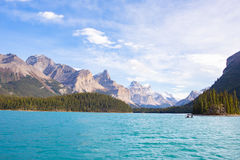 Maligne Lake view Royalty Free Stock Photos