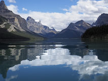 Maligne Reflections Stock Photography