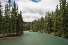 Maligne river - Long exposure version Stock Photos