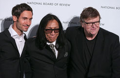 Malik Bendjelloul, Sixto Rodriguez, Michael Moore Royalty Free Stock Photos