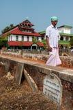 Malik Dinar Mosque au Kerala Photo stock