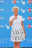 Malika Ayane al Giffoni Film Festival 2015. Giffoni Valle Piana, Salerno, Italia - 19 Luglio, 2015 : Malika Ayane al Giffoni Film Festival 2015 - il 19 Luglio Stock Image