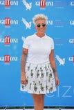 Malika Ayane al Giffoni Film Festival 2015. Giffoni Valle Piana, Salerno, Italia - 19 Luglio, 2015 : Malika Ayane al Giffoni Film Festival 2015 - il 19 Luglio Royalty Free Stock Photo