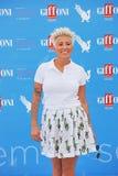 Malika Ayane al Giffoni Film Festival 2015. Giffoni Valle Piana, Salerno, Italia - 19 Luglio, 2015 : Malika Ayane al Giffoni Film Festival 2015 - il 19 Luglio Royalty Free Stock Images
