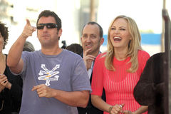 Malin Akerman, Jennifer Aniston, Adam Sandler. Malin Akerman, Adam Sandler  at the Jennifer Aniston Star on the Hollywood Walk Of Fame, Hollywood, CA 02-22-12 Stock Photo