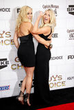 Malin Akerman and Julianne Hough. At the 2012 Spike TV's Guys Choice Awards held at the Sony Studios in Culver City on June 2, 2012 Royalty Free Stock Image
