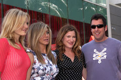 Malin Akerman, Kathryn Hahn, Jennifer Aniston, Adam Sandler Royalty Free Stock Image