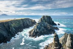 Malin Head Sea Cliffs. These are sea cliffs that are in Malin Head which is the Northern most point of Ireland Royalty Free Stock Photo