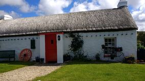 Malin head thatched cottage. Old world living 2017 Royalty Free Stock Photography