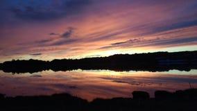 Malin town  sunset. Inlet sunset scene Stock Image