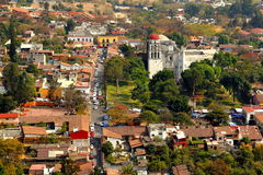 Malinalco III. Aerial view of the town of malinalco, located in the mexican state of mexico Stock Photos