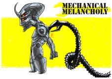 Malinconia mecchanical di mecha di Android royalty illustrazione gratis