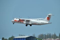 Malindo Air aircraft ATR 72-600 Stock Photos