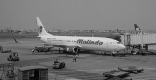 Malindo airplane at the Tan Son Nhat airport in Saigon, Vietnam.  Stock Image
