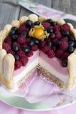 Malinka tort Zdjęcia Stock