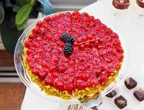 Malinka tort Zdjęcie Stock