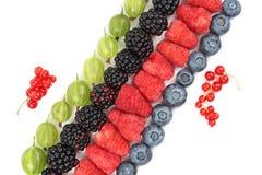 Malinki, agresty, czernicy i czarne jagody kłama di, Obraz Royalty Free