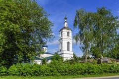 保佑的圣母玛丽亚的做法的寺庙在Malino 莫斯科地区, Stupino区 库存照片