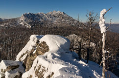 Malinovaya mountain, South Urals. In winter Stock Images