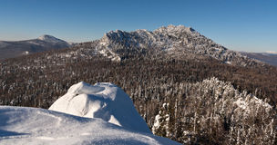 Malinovaya mountain, South Urals. In winter Stock Photos