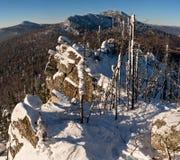 Malinovaya mountain, South Urals. In winter Royalty Free Stock Image