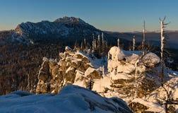 Malinovaya mountain, South Urals. In winter Stock Image